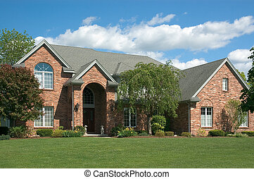 New Home - Beautiful brown two story brick home. Very...