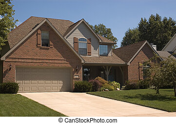 Home 2 - Brick 2-story home in the suburbs.