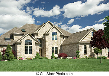 New Home - Beautiful brown two story brick home. Typical new...