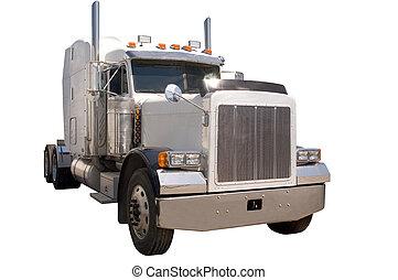 semi, camión,