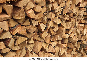 Cord of Firewood - A newly choped stack of firewood