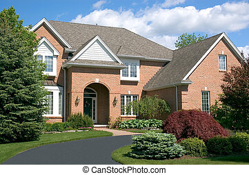 New Home 119 - Beautiful brown two story brick home with a...