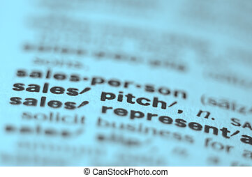 Sales Pitch - Extreme macro or close up of the word SALES...