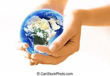 mani, presa a terra, pianeta, Terra,