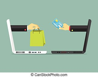 Ecommerce colorful vector