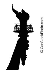 Liberty Torch - The statue of Liberty torch in silhouette