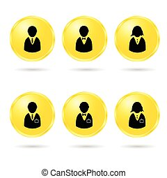 people icon vector in colorful