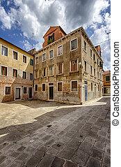 surreal, predios, em, Veneza, Itália,