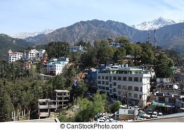 The City of Dharamsala in India