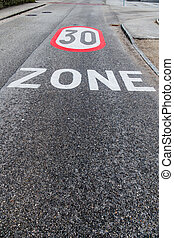 30 kph zone in the city - traffic calming a...