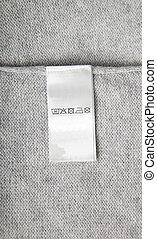Washing label on cloth