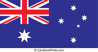 Australian flag - isolated vector illustration