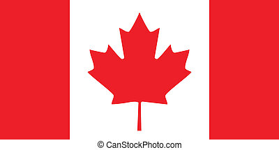 Canada flag - Canadian flag from Canada isolated vector...