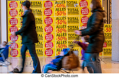 total sales in a store. storeis closed a