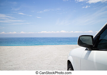 car park on beach