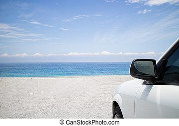 car park on beach