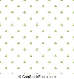 Day Patrick festive background pattern green Shamrock...