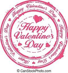 Happy Valentine Day stamp - Happy Valentine Day rubber stamp