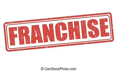 Franchise stamp - Franchise grunge rubber stamp on white...