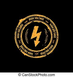 High voltage stamp - High voltage vector stamp