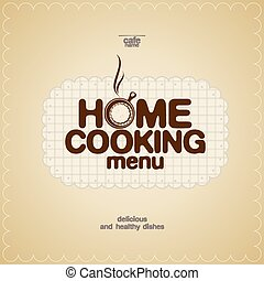Home Cooking Menu Design template