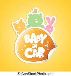 Baby in car sticker.