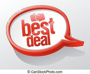 Best deal speech bubble.