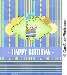 Birthday card with text