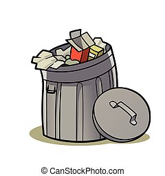 trash can - This is an illustration of a trash can