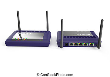 USB network purple adapter, front and back