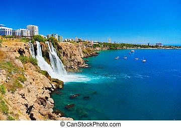 Waterfall Duden at Antalya, Turkey - nature travel...