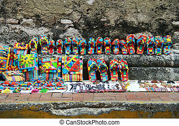 Colorful hand crafted souvenirs