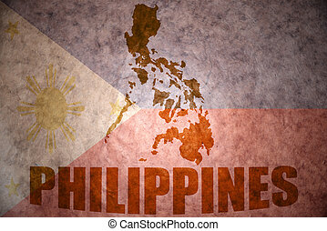 philippines vintage map - philippines map on a vintage...