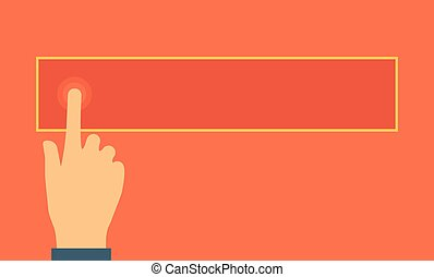 Touch Screen. Vector flat design Illustration. Horizontal...