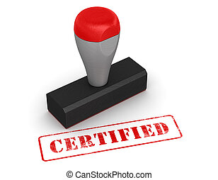 Rubber stamp - certified