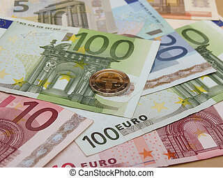 Euro banknotes and coins - Euro (EUR) banknotes and coins...