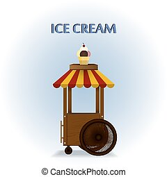 Ice cream cart.