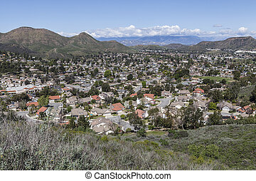 Newbury Park California - Hilltop view of the Los Angeles...
