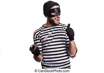 criminal, thief, robber, crime - Thief escape from a jail....