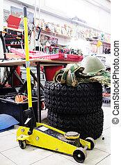 lifting jack - Image of a car repair lifting jack