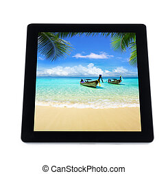 tablet computer isolated on white