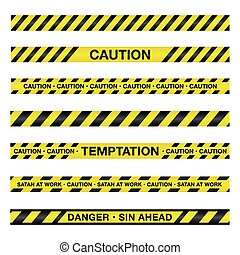 Spiritual Caution Tape Illustration - An illustration of...