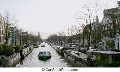 Amsterdam Prinsengracht - View on one of the Unesco world...