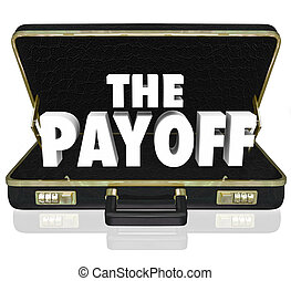 Payoff 3d Word Deal Benefit Contract Black Leather Briefcase...