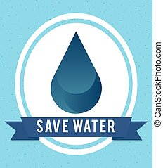 natural water design, vector illustration eps10 graphic