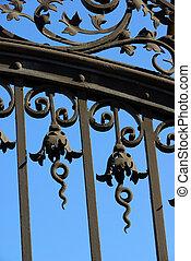 ferro, portão, 02