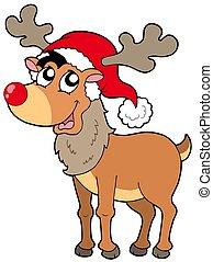 Karikatúra, karácsony, rénszarvas