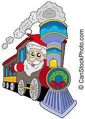 Santa Claus on train