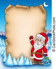 Christmas parchment with Santa Claus 5