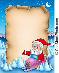 Christmas parchment with Santa Claus 6